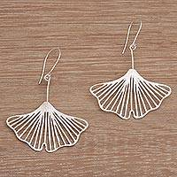 Sterling silver dangle earrings, 'Dainty Fins' - Artisan Crafted Sterling Silver Dangle Earrings from Bali