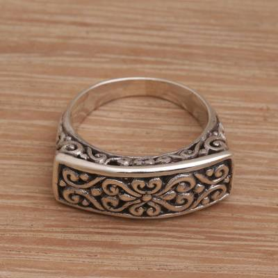 plain thin silver ring holder