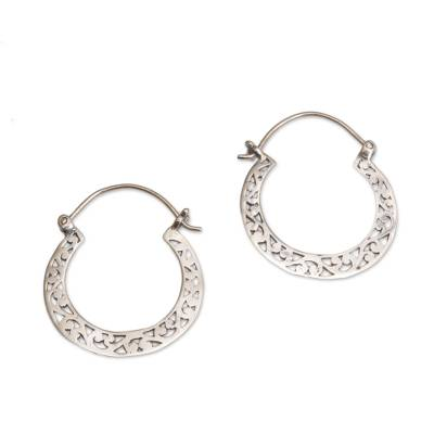 Handmade Indonesian 925 Sterling Silver Horseshoe Earrings