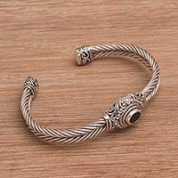 Garnet cuff bracelet, 'Palatial Garden'