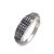 Sterling silver band ring, 'Textured Formation' - Handmade 925 Sterling Silver Textured Band Ring Made in Bali thumbail