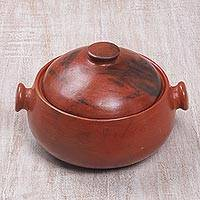 Ceramic tureen, 'Lombok Heritage' - Ceramic Tureen with a Lid from Indonesia