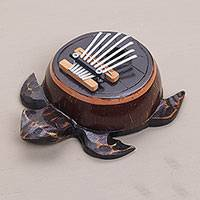 Coconut shell thumb piano, 'Turtle Tune'