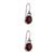 Garnet dangle earrings, 'Caressed by Paws' - Paw Print Faceted Garnet Dangle Earrings from Bali (image 2a) thumbail