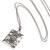 Sterling silver pendant necklace, 'Cat Swirls' - Cat Motif Sterling Silver Pendant Necklace from Bali (image 2e) thumbail