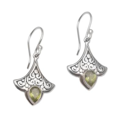 Handmade Peridot 925 Sterling Silver Earrings Indonesia