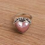 Handmade 925 Sterling Silver Cultured Pearl Cocktail Ring, 'Stranger in Love'