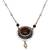 Cultured pearl and tiger's eye pendant necklace, 'This Moment' - Cultured Freshwater Pearl and Tigers Eye Pendant Necklace thumbail