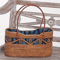 Ate grass handle handbag,
