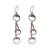 Sterling silver dangle earrings, 'Downtown' - Handmade Sterling Silver Dangle Earrings from Bali (image 2a) thumbail