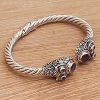 Amethyst cuff bracelet, 'Wandering Eyes'