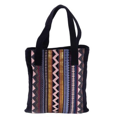 Novica Cotton shoulder bag, Lucky Paradise