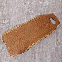 Teakwood cutting board, 'Koki' - Hand Carved Teakwood Cutting Board from Bali