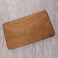 Teakwood cutting board, 'Talenan' - Hand Carved Teakwood Cutting Board from Bali
