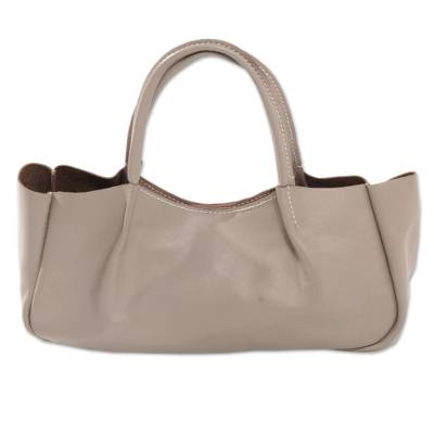 Novica Leather handle handbag, Black Glamor