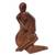 Wood sculpture, 'Mom's Love Never Ends' - Hand-Carved Romantic Suar Wood Sculpture from Bali thumbail