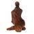 Wood sculpture, 'Mom's Love Never Ends' - Hand-Carved Romantic Suar Wood Sculpture from Bali (image 2d) thumbail
