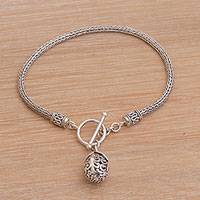 Sterling silver charm bracelet, 'Vine Fruit' - Artisan Crafted Sterling Silver Charm Bracelet from Bali
