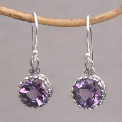 Novica Amethyst dangle earrings, Spring Lilac