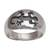 Men's sterling silver band ring, 'Grand Gecko' - Men's Sterling Silver Gecko Band Ring with Gecko Motif (image 2a) thumbail