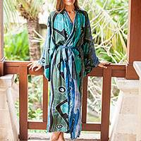 Rayon batik robe, 'Atmosphere'