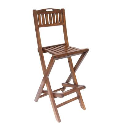 Magnificent Handcrafted Teakwood Folding Bar Stool Made In Bali Parallel Slats Machost Co Dining Chair Design Ideas Machostcouk