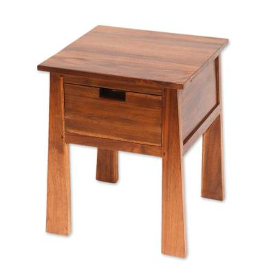 Teakwood accent table, Craftsman
