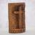 Wood statuette, 'Fern Cross' - Suar Wood Hand Carved Cross with Floral Background (image 2b) thumbail