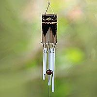 Bamboo and aluminum wind chimes, 'Singing Vines'