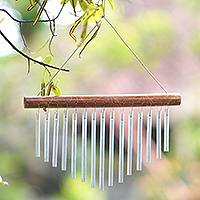 Bamboo wind chimes, 'Natural Ring'