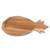 Teak wood serving platter, 'Pineapple Platter' - Teak Wood Handcrafted Pineapple Shaped Serving Platter (image 2d) thumbail