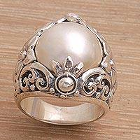 Featured review for Cultured pearl cocktail ring, Lotus Moonlight