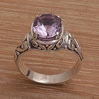 Amethyst cocktail ring, 'Floral Prayers'