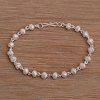 Sterling silver link bracelet, 'Woven Eternity' - Sterling Silver Link Bracelet from Indonesia