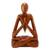 Wood sculpture, 'Natural Meditation' - Wood Lotus Meditation Yoga Sculpture Hand Carved in Bali thumbail