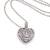 Sterling silver pendant necklace, 'Guardian Heart' - 925 Sterling Silver Guardian Heart Pendant Necklace (image 2c) thumbail