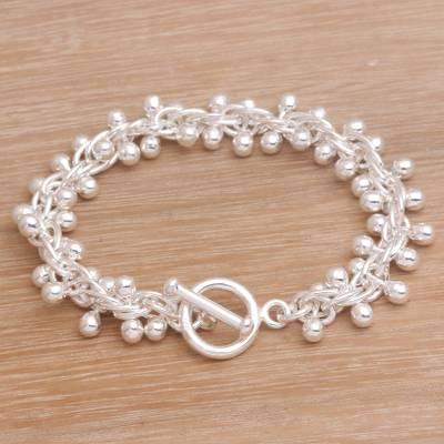 7cf6e2c50e7588 Artisan Crafted Sterling Silver Link Bracelet from Bali, 'Orbs of Wonder'.  Product ID: U34049