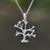 Sterling silver pendant necklace, 'Dainty Bark' - Sterling Silver Tree Pendant Necklace from Indonesia thumbail