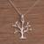 Sterling silver pendant necklace, 'Dainty Bark' - Sterling Silver Tree Pendant Necklace from Indonesia (image 2b) thumbail