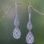 Sterling silver dangle earrings, 'Mystic Vines' - Sterling Silver Dangle Earrings Handcrafted in Bali (image 2) thumbail