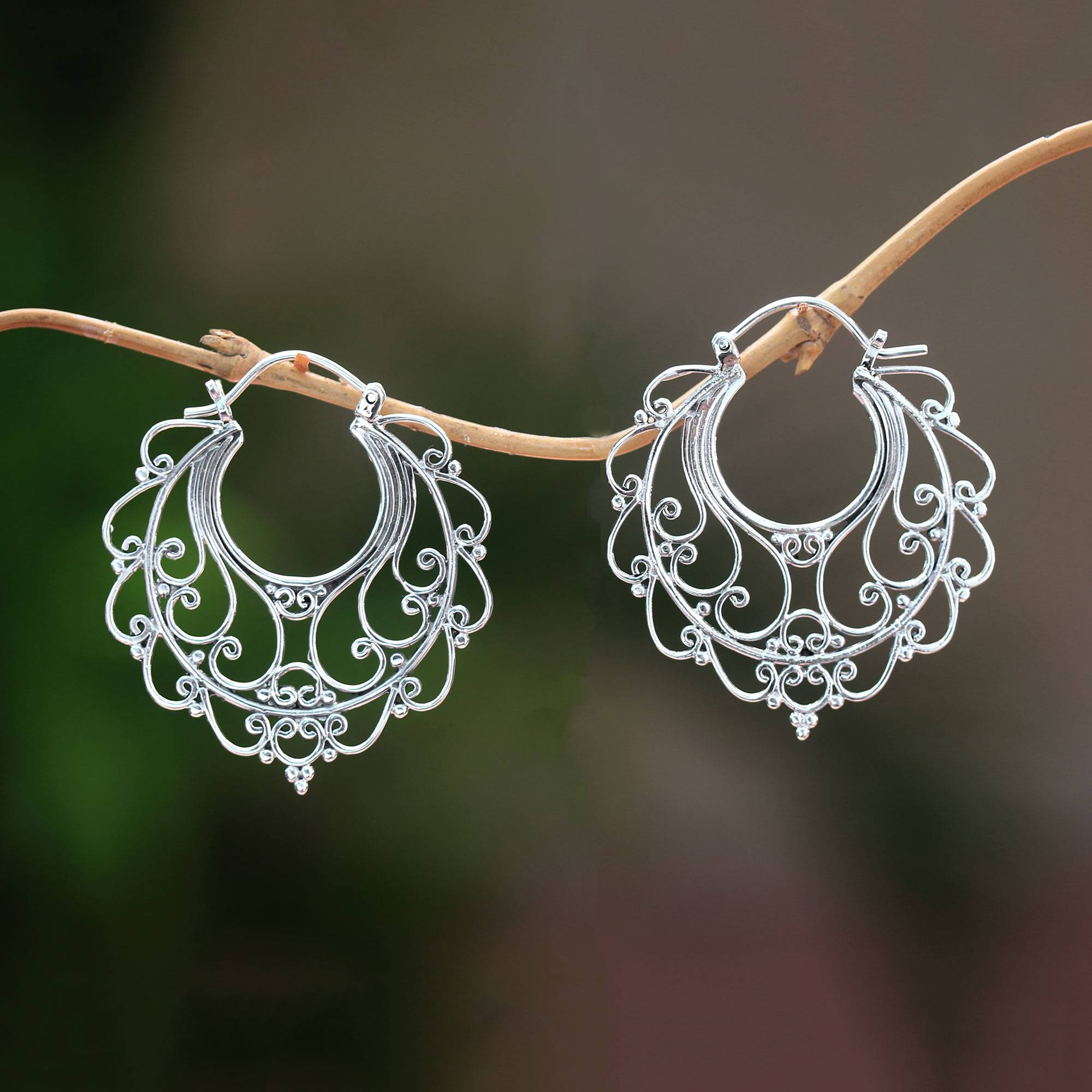 HOOP EARRINGS ABOUT THE SIZE OF A DIME IDEAL FOR CHILDREN IN STERLING SILVER