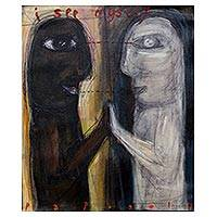 'I See Myself' - Signed Modern-Style Painting from Java