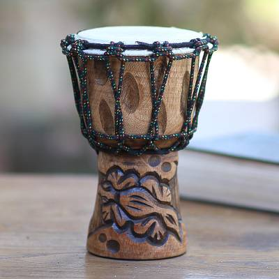 Mahogany mini djembe drum, Gecko Tune