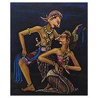 'Karonsih Dance' - Signed Painting of Karonsih Dancers from Indonesia