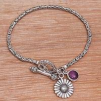 Featured review for Amethyst charm bracelet, Mystic Sunflower