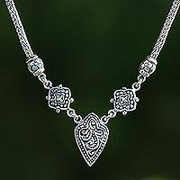 Featured review for Sterling silver pendant necklace, Star Shield