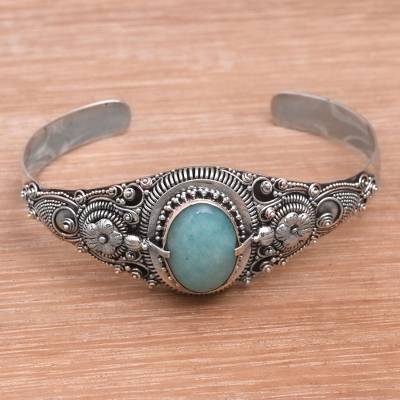 Amazonite cuff bracelet, Sindu Magic