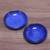 Ceramic condiment dishes, 'Bright Sky' (pair) - Pair of Blue Ceramic Condiment Dishes from Indonesia (image 2b) thumbail