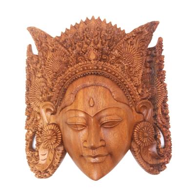 Wood mask, 'Beautiful Sita' - Wood mask
