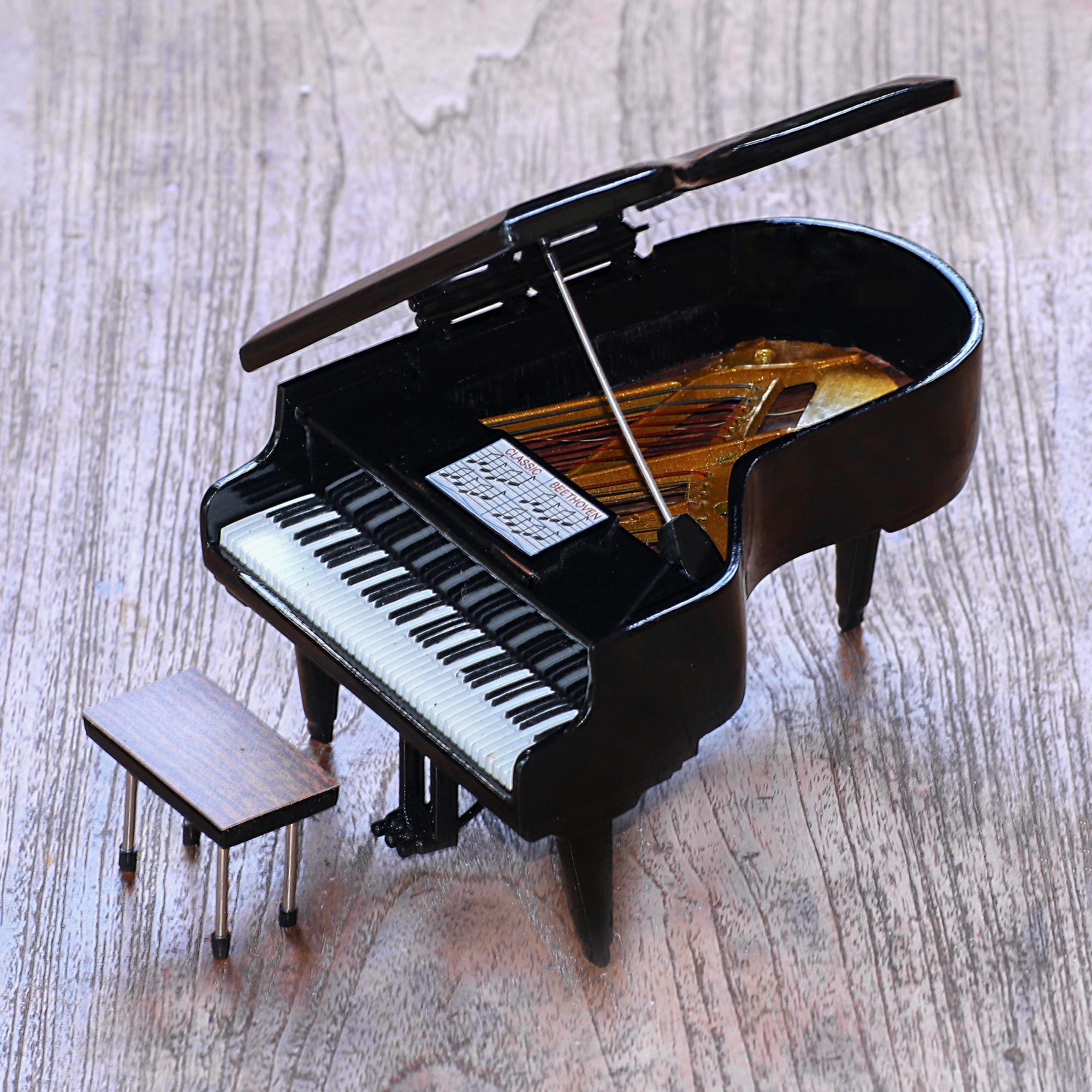 Handcrafted Decorative Mahogany Mini Grand Piano Figurine - Baby Grand |  NOVICA
